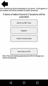 Marine Debris Tracker app
