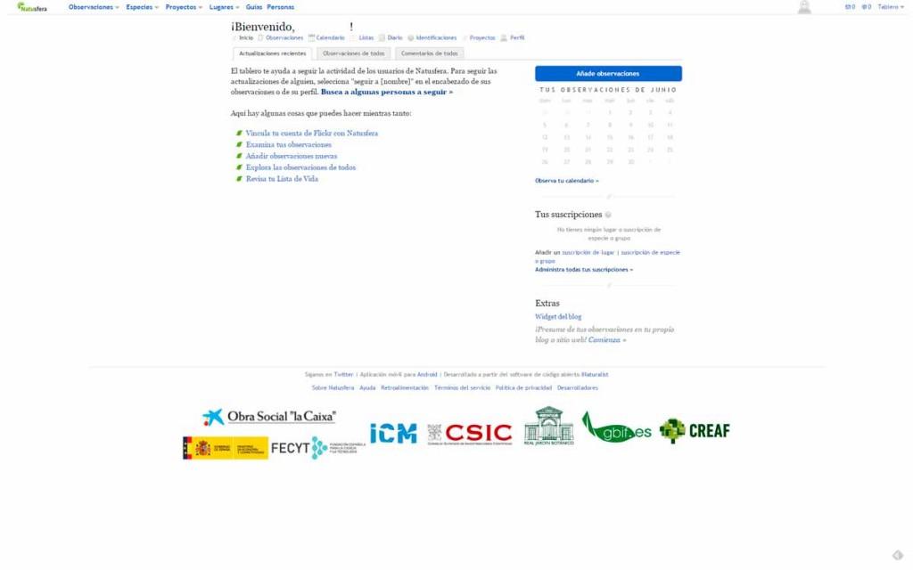 Natusfera web app