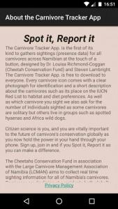 Carnivore Tracker app