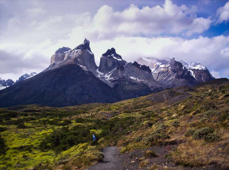 Torres del Paine National Park, one of the natural areas included in the app about national parks of Chile