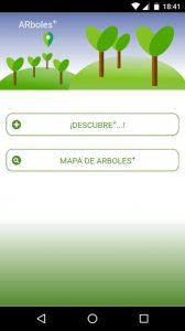 ARboles, app para visualizar información del arbolado urbano en realidad aumentada