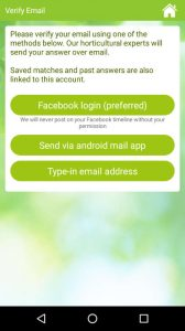 Garden Answers, a plant identification app that also enables to consult diseases and pests