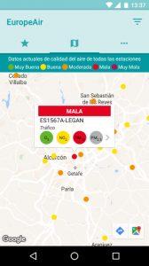 EuropeAir, una app para consultar fácilmente las emisiones atmosféricas de tu ciudad