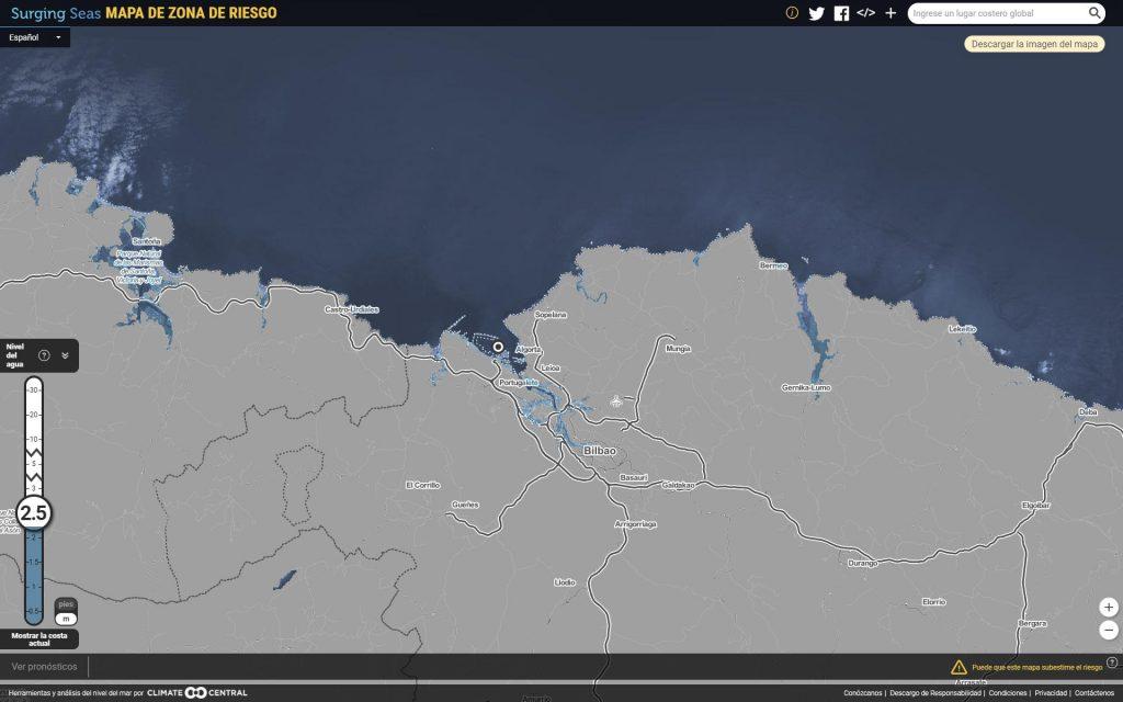 Proyecciones del aumento del nivel del mar