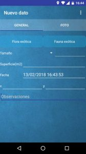 Exoticas Murcia, an app for registering potentially invasive exotic plants and animals