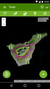 Nueva app con información de los parques nacionales españoles que recoge espacios tales como el Parque Nacional del Teide