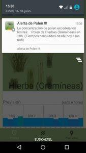 Alerta de Polen Europa, la app que te informa de la previsión de los niveles de polen