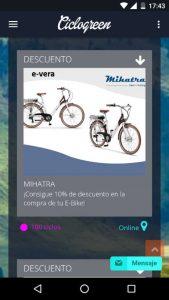 Ciclogreen, la app que premia tu apuesta por el transporte sostenible